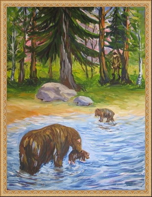 иллюстрации к рассказу в бианки купание медвежат теплые пожелания рождество