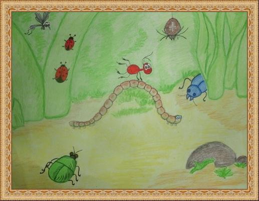 как рисунок к рассказу приключения муравьишки могут